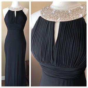 JS. Boutique Formal Dress Black Beaded